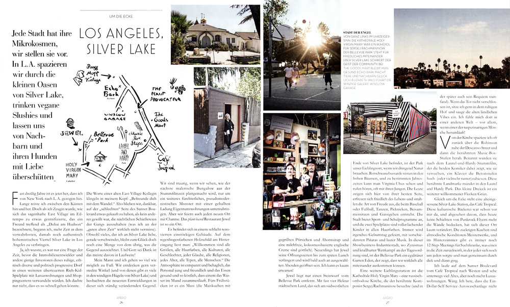 Around the corner - Silver Lake, Los Angeles / Blau