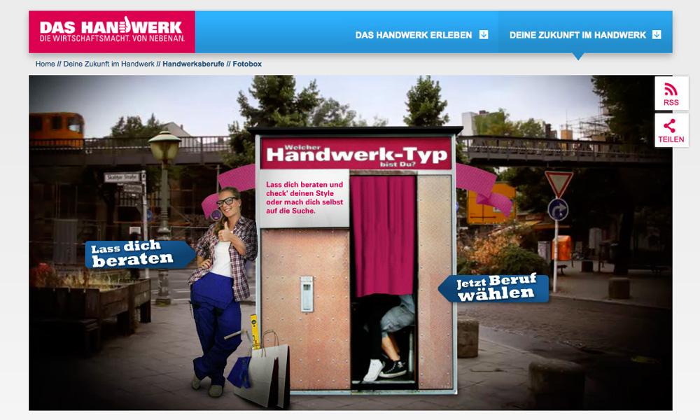 DAS HANDWERK - FOTOBOX / SCHOLZ & FRIENDS