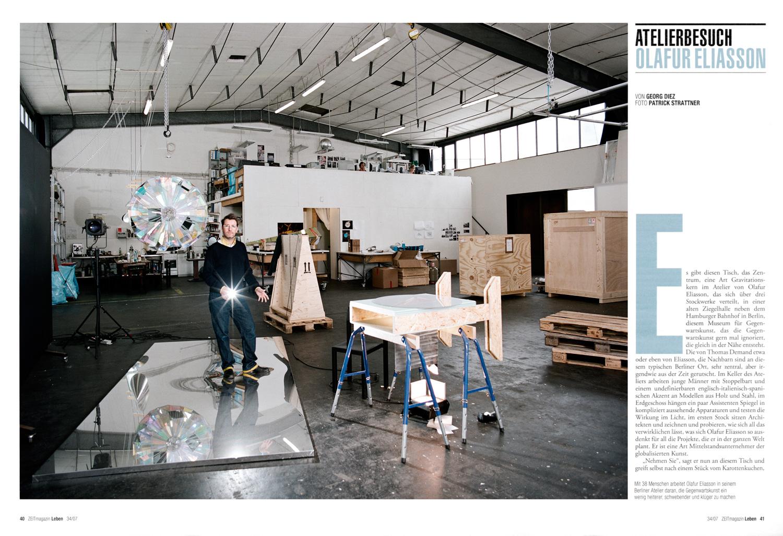 OLAFUR ELIASSON - STUDIO VISIT / DIE ZEIT