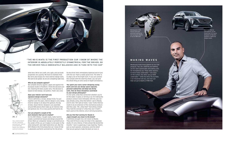 Julien Montousse, design director at Mazda North America / Mazda   Redwood