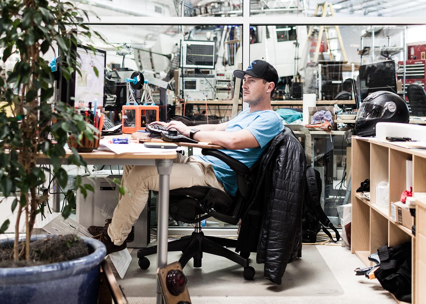 Jeff Clark, design engineering tech at Applied Minds / brand eins Thema