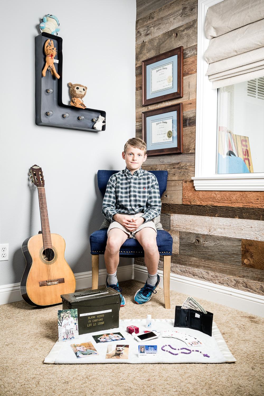 Luke and his keepsake box