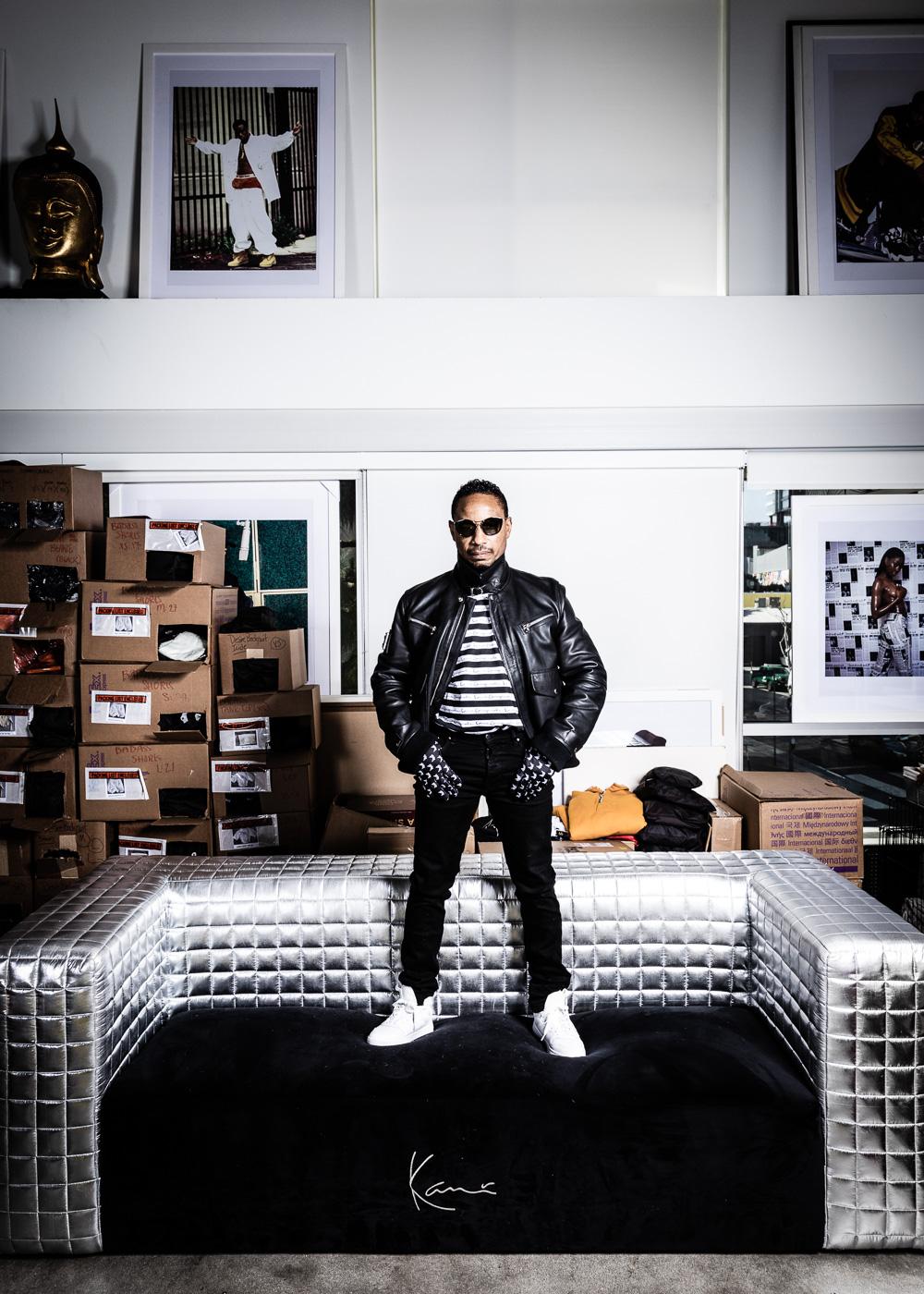 Karl Kani, American fashion designer, founder and CEO of the hip hop fashion brand Karl Kani