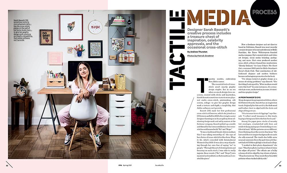 Sarah Bassett, Art Director and Designer - BASSY. Boston University - College of Fine Arts Magazine